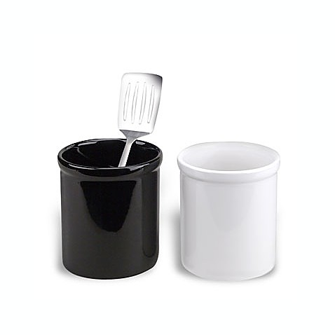 Ceramic utensil holder crock bed bath beyond for Kitchen utensil holder