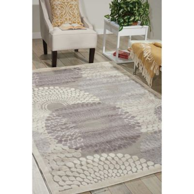 Nourison Graphic Illusions 7-Foot 9-Inch x 10-Foot 10-Inch Area Rug in Grey