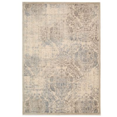 Nourison Graphic Illusion GIL09 7-Foot 9-Inch x 10-Foot 10-Inch Area Rug in Ivory