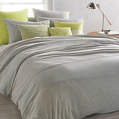 DKNY Fraction Duvet Cover in Heathered Grey - BedBathandBeyond.ca
