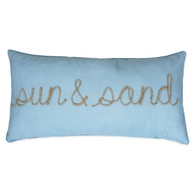 Sun & Sand Oblong Throw Pillow in Spa Blue