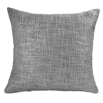 DKNY Frequency Square Throw Pillow in Grey