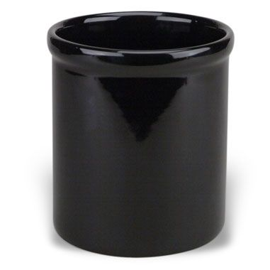 Ceramic Utensil Holder Crock in Black