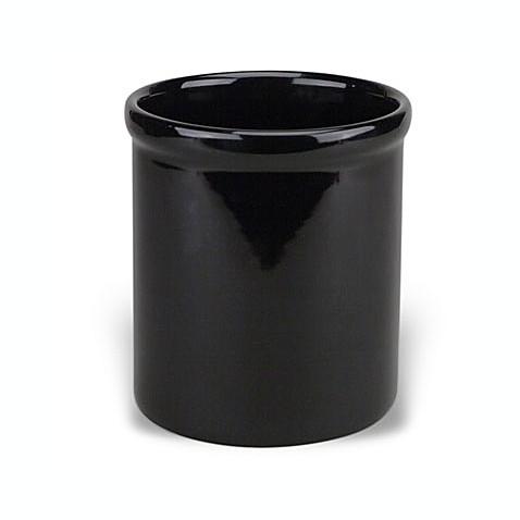 Buy Ceramic Utensil Holder Crock In Black From Bed Bath