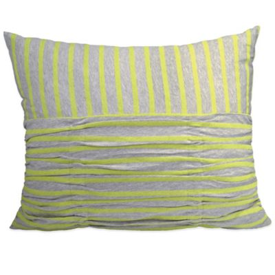 DKNY Fraction Stripe Oblong Throw Pillow in Citron