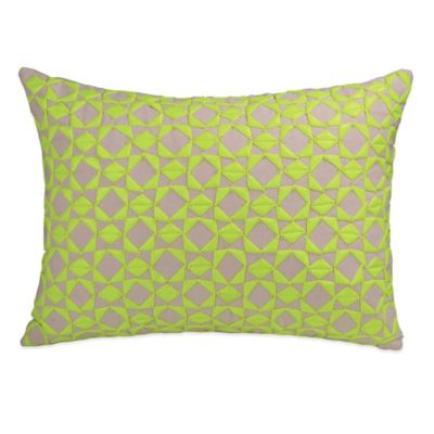 DKNY Fraction Oblong Throw Pillow in Citron