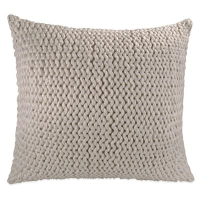 DKNY Colorblock Square Throw Pillow in Natural