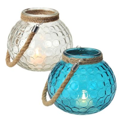 Pfaltzgraff® Circle Lantern in Blue