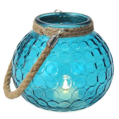 Pfaltzgraff® Circle Lantern in Blue