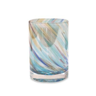Veratex Blue Swirl Glass Tumbler
