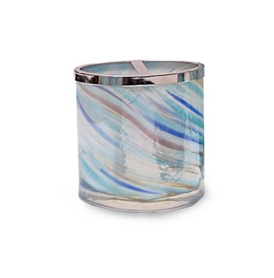Veratex Blue Swirl Glass Toothbrush Holder