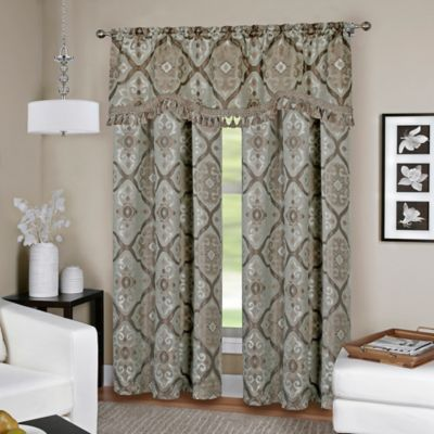 Camilla 15-Inch Window Valance in Bronze