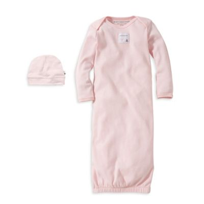 Burt's Bees Baby® Size 0-3M Organic Cotton Gown and Cap Set in Pink