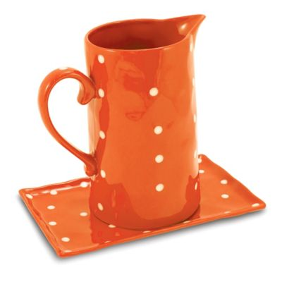 Maxwell & Williams™ Sprinkle Collection Pitcher and Tray Set in Orange