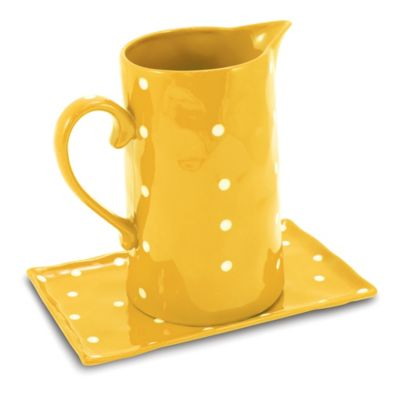 Maxwell & Williams™ Sprinkle Collection Pitcher and Tray Set in Yellow