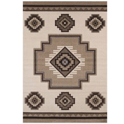 United Weavers Mountain 5-Foot 3-Inch x 7-Foot 6-Inch Area Rug in Cream