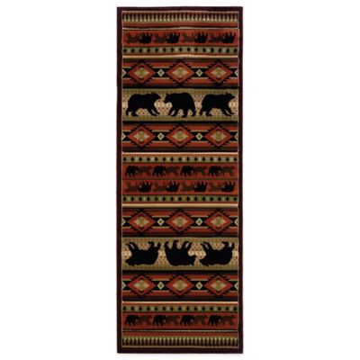 United Weavers Native Bear 2-Foot 7-Inch x 7-Foot 4-Inch Runner in Terracotta
