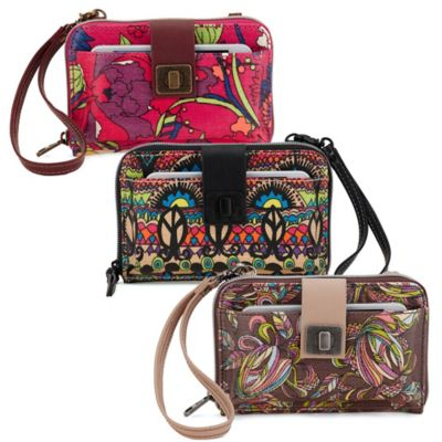 Sakroots Artist Circle Smartphone Crossbody Wristlet in Radiant One World