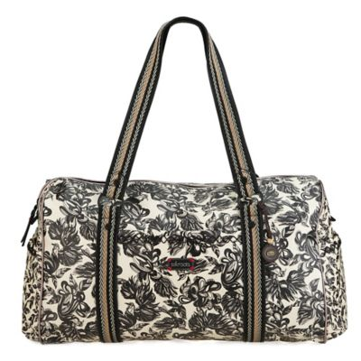 Sakroots Artist Circle Extra-Large Duffle in Mist Treehouse
