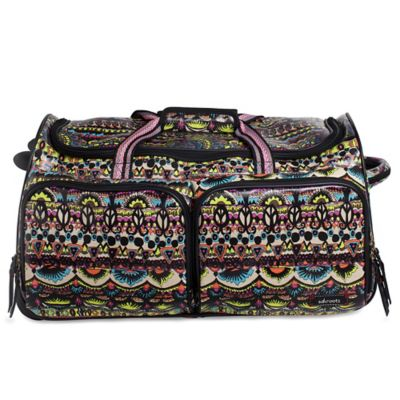 Sakroots Artist Circle Rolling Duffle in Neon One World