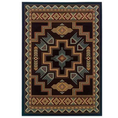 United Weavers Talon Smoke 5-Foot 3-Inch x 7-Foot 6-Inch Area Rug in Blue