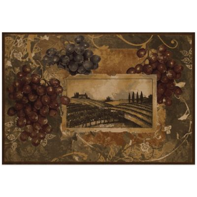 United Weavers Vineyard Welcome 5-Foot 3-Inch x 7-Foot 6-Inch Area Rug