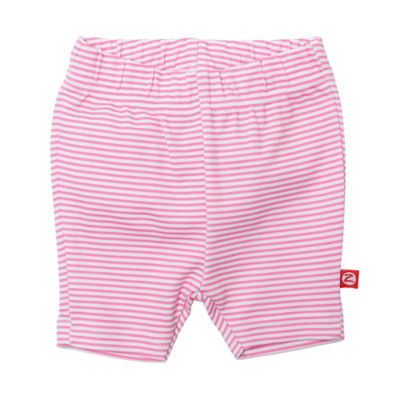 Zutano® Size 6M Candy Stripe Bike Short in Pink/White