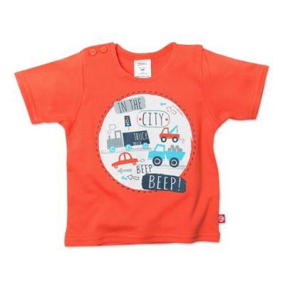 "Zutano® Size 6M ""In the City"" Screen Short Sleeve T-Shirt in Mandarin"