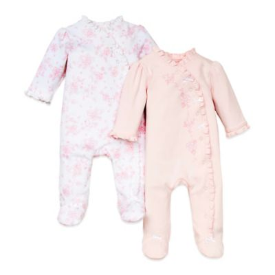 Little Me® Size 9M Sweet 2-Pack Footie in Pink/Bunny
