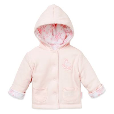 Little Me® Size 12M Reversible Hoodie in Pink/Bunny