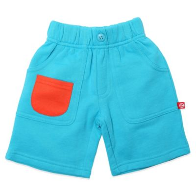 Zutano® Size 6M French Terry Big Pocket Short in Pool Blue