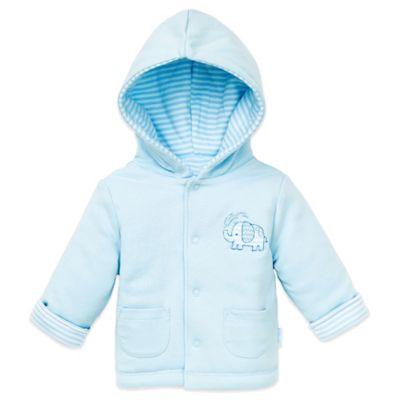 Little Me Size 12M Reversible Hoodie in Light Blue/Elephant