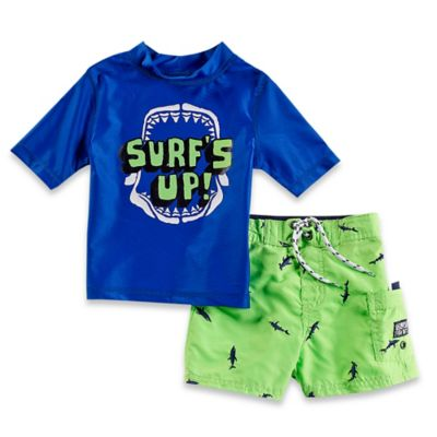 "OshKosh B'gosh® Size 12M ""Surf's Up"" Rashguard Set in Blue"