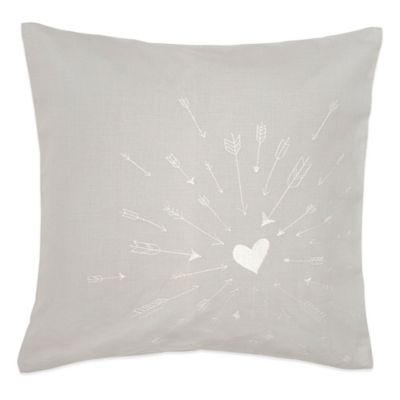 Under the Canopy® Lover Arrow Organic Cotton Square Throw Pillow