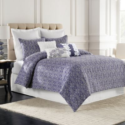 Sonoma Quilted Full Comforter Set in Blue