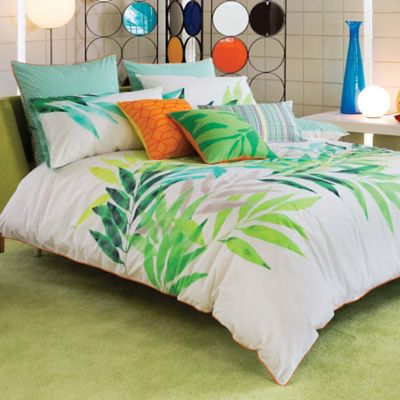 KAS® Lima Reversible Twin Duvet Cover in Lime