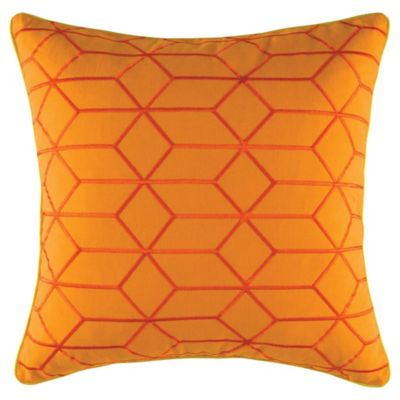 KAS Lima Muze Square Throw Pillow in Orange