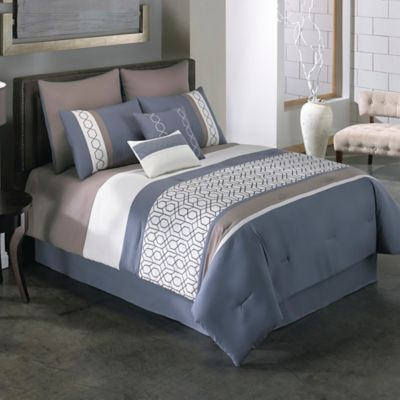 Covington 8-Piece King Comforter Set in Blue