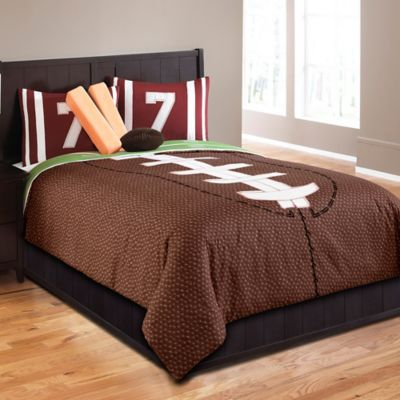 Field Goal 5-Piece Full Comforter Set in Brown
