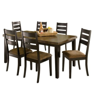 Hillsdale Killarney 7-Piece Dining Set in Black/Antique Brown
