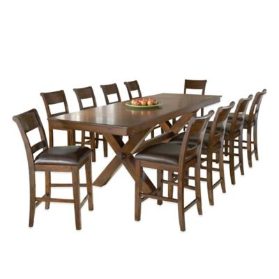 Hillsdale Park Avenue 11-Piece Counter Height Dining Table and Stools