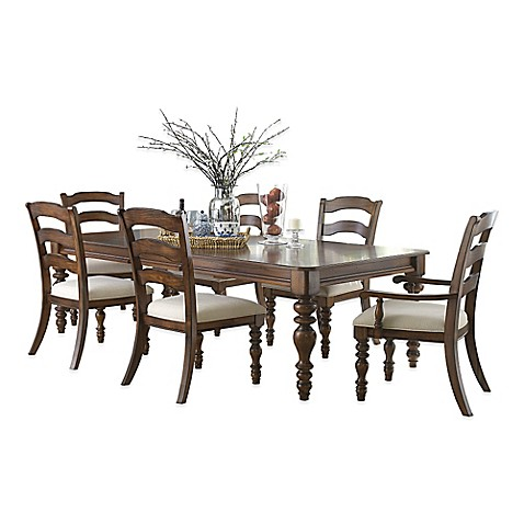 Buy Hillsdale Pine Island 7 Piece Dining Set With Ladder Back Side Chairs In