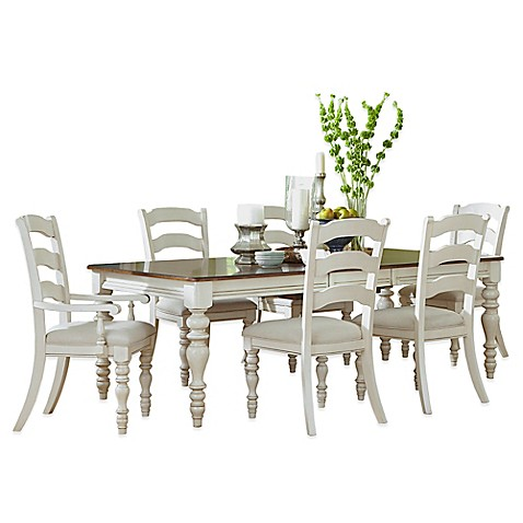 Hillsdale Pine Island Dining Set With Ladder Back Side Chairs Bed Bath Amp