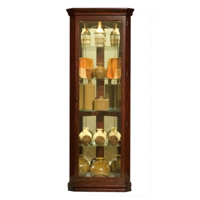 Pulaski Mirrored Corner Curio in Victorian Cherry