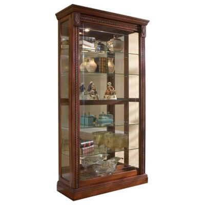 Pulaski Two-Way Sliding Door Curio in Medallion Cherry