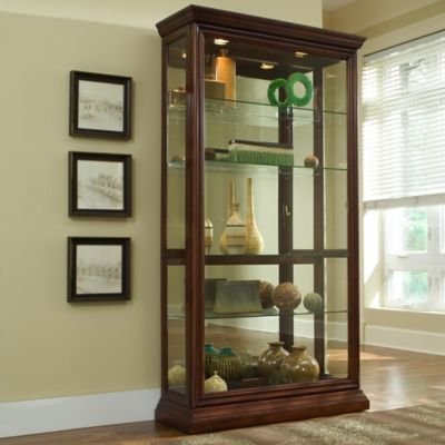 Pulaski Two-Way Sliding Door Curio in Eden House Brown