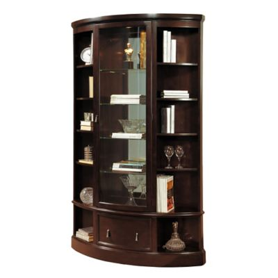 Pulaski Bookcase Curio in Sable
