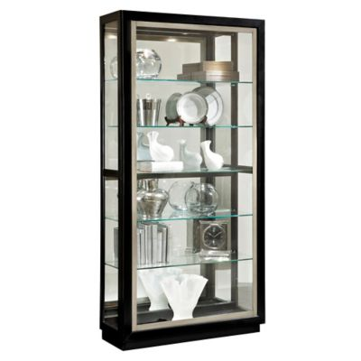 Pulaski Side Entry Curio in Black Granite