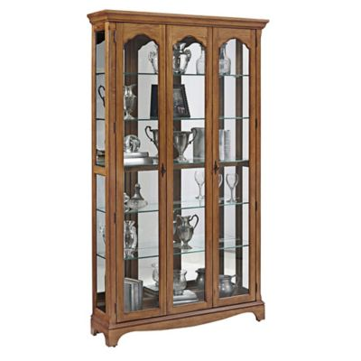 Pulaski Double Door Curio in Estate Oak