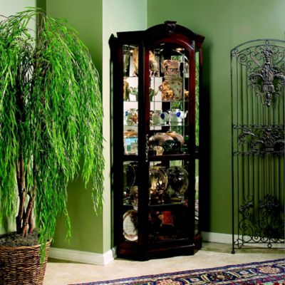 Pulaski Corner Curio in Medallion Cherry